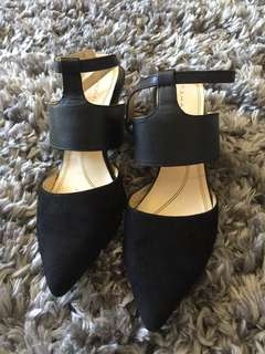 Tahari black suede pumps sz 7