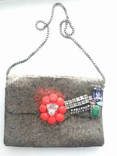 French brand Shourouk handmade sequin bag - 90% off !
