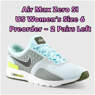 Women's Nike Air Max Zero SI-Glacier Blue/Black ONLY SIZE US6 available