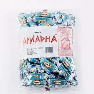 俄羅斯酸奶糖Russian candy yogurt,1000g,滿洲邊境進口深圳帶回台灣
