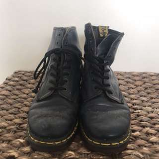 Beaten up dr martens