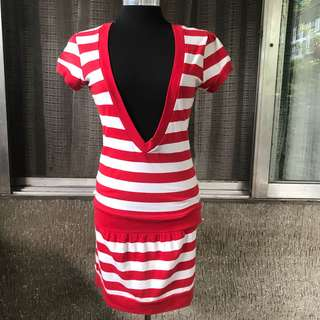 Kamiseta Red Striped Dress