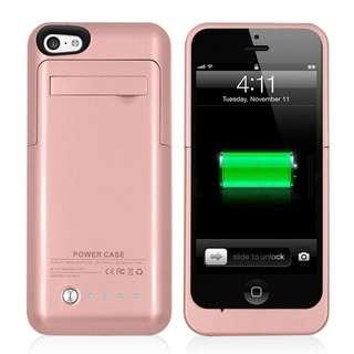 (BNIB) iPhone 5 / 5S / 5C 2200mAh Battery Case - Rose Gold