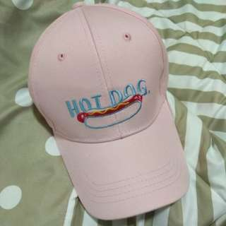 HOT DOG pink cap
