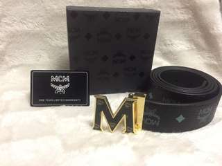 New Black McM leather belt !