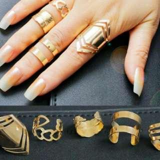 Super Sale!!! 5pcs Midi Finger Above Knuckle Stacking Ring set