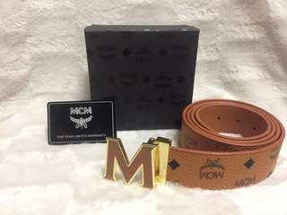 Brand new Tan  McM leather belt
