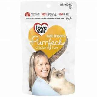 SOLD OUT - Loev'Em Purrfect Chicken Liver Cat Treats 90g