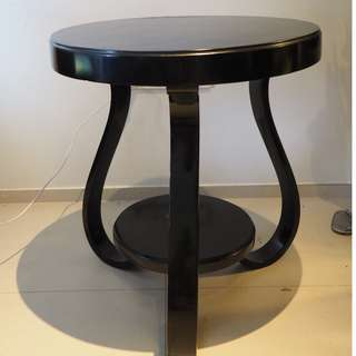 Original art deco tables black lacquered from Europe