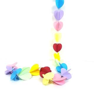 Rainbow Hearts Balloon Tails