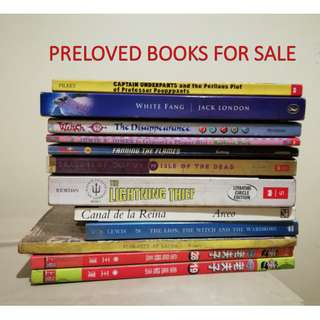 PRELOVED BOOKS FOR SALE