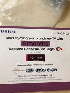 Samsung Weekend Goals Pack on Singtel