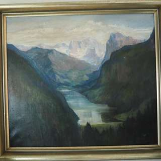 Antique Oil painting framed circa. 1940s