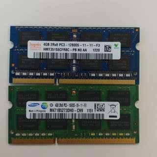 Hynix 4GB DDR3 laptop RAM $35 each