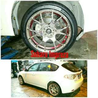 Tyre 215/45 R17 Membat on Subaru Impreza 🐕 Super Offer 🙋♂️