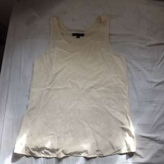 WOMENS SABA SILK BLOUSE IN IVORY SIZE 8