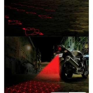 Pre Order: LED Motorcycle Laser Fog Light Anti Collision Tail Auto Brake Parking Lamp Motorbike Warning Lights