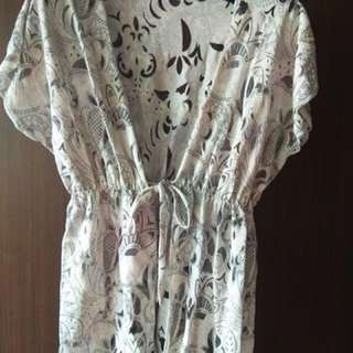 Repriced!!! White Printed Cover Up