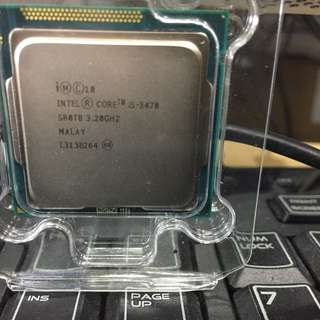 Processor 3470  3.2Ghz used one week