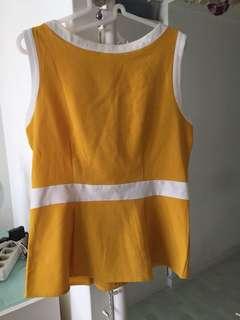Yellow Peplum Top