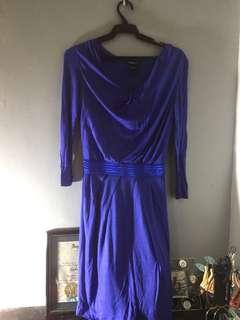 Mango Suit blue dress