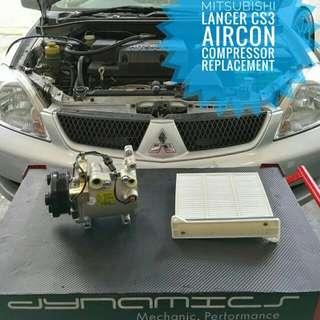 Mitsubishi Lancer CS3 : Aircon_Compressor / AirCon_Cabin_Filter replacement.