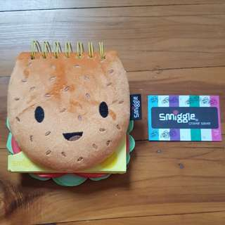 Smiggle Cheeseburger Note Pad