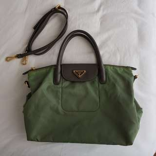 Prada Green Handbag with Strap