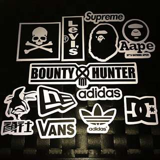 Sticker High Quality WaterProof - Black And White Theme Streetwear Labels Stickers Decals