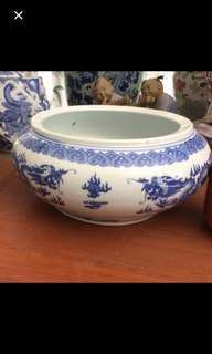Porcelain vintage  deep  Bowl