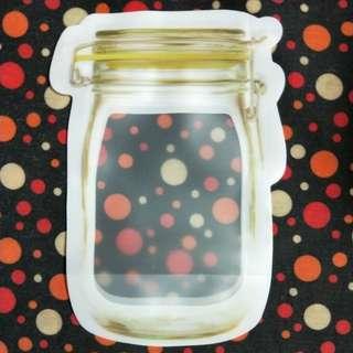 Glass jar ziplock bag