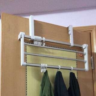 全新 多用途多角度掛衣架/曬衣架 (適合任何厚度和闊度的門/窗框/櫃門)