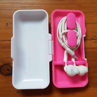 Pink Earphone Case