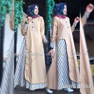 BL - 0218 - Dress Busana Muslim Wanita Aiswa Maxi