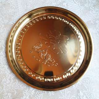 "17.5"" Double Happiness Wedding Metal Tray"