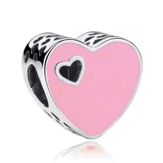 Light Pink Heart Hollow Charm