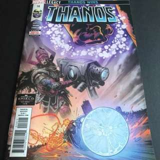 Thanos 16 1st print 1st full app of silver surfer the fallen one origin of cosmic ghost rider
