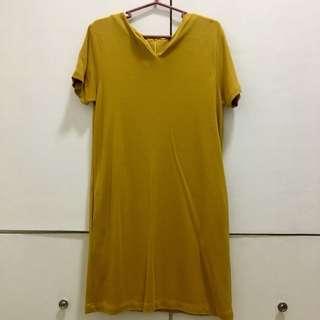 Mustard yellow shirt dress