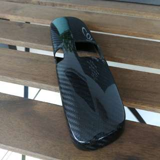 Carbon fibre rear view mirror cover