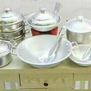 Miniature real cooking set