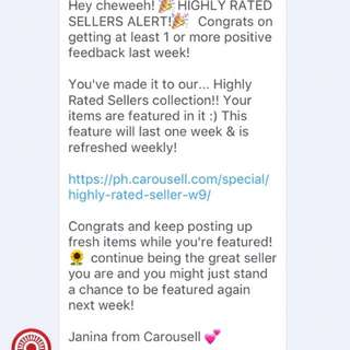 Seller Rating thanks beauties!!