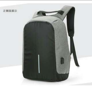 Anti theft computer laptop USB charging bag. PO.