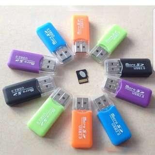 USB 2.0 Memory Card Reader High Speed Micro SD TF Adapter
