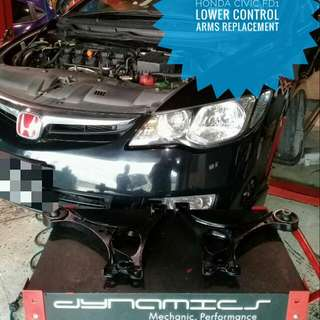 Honda Civic FD1 :Lower_Control_Arms replacement.