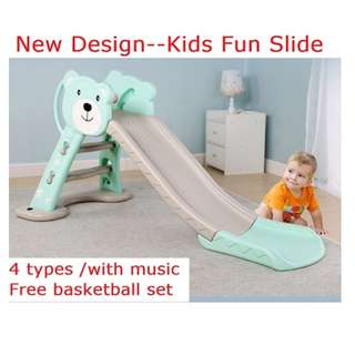 Kids Slide - Long and Colourful
