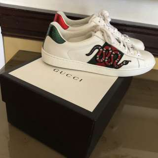 Authentic gucci ace sneakers