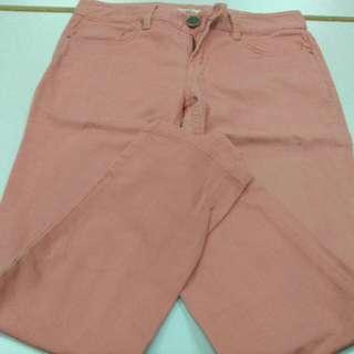 粉紅色長褲