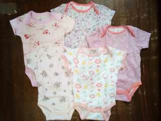 Preloved baby girl onesies