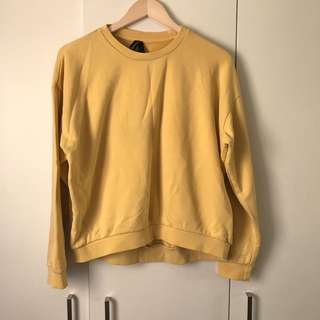 HUFFER YELLOW CREW NECK JUMPER