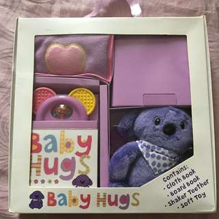 Baby gift set (cloth books, rattles, etc)